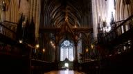 Cathedral nave, choirstalls and roof. video