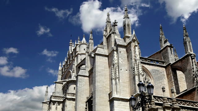 Cathedral of Seville -- Cathedral of Saint Mary of the See, Andalusia, Spain -- is the third largest church in the world and at it time of completion in the 1500 it was the world  largest video