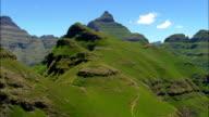 Cathedral Peak  - Aerial View - KwaZulu-Natal,  uThukela District Municipality,  Okhahlamba,  South Africa video
