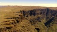 Cathedral Peak Nature Reserve  - Aerial View - KwaZulu-Natal,  uThukela District Municipality,  Okhahlamba,  South Africa video