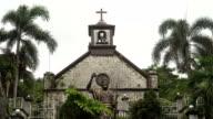 Catholic Church with palm trees video
