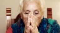 catholic old woman in prayer: God, seeking, faith, religious video
