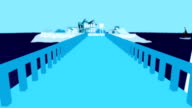 Catwalk Modal In Cartoon Beach video
