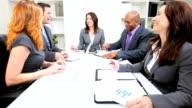 Caucasian Business Female Leader Successful Team video