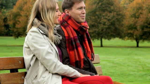 Caucasian Couple Enjoying Country Park Fall video