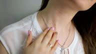 caucasian girl suffering from illness papillomas video