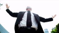 Caucasian Male Financial Broker Celebrating Business Achievements video