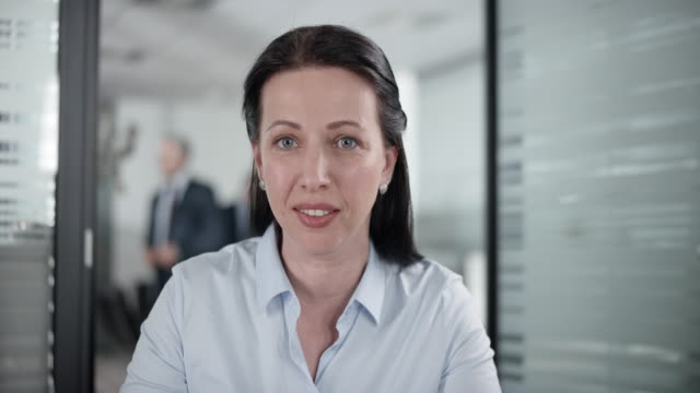 Caucasian woman on a video conference call with a client video