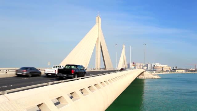 Causeway Bridge in Manama, Bahrain video