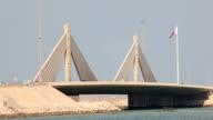 Causeway Bridge in Manama, Kingdom of Bahrain video