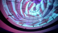 Ceiling above dance floor, VJ images video