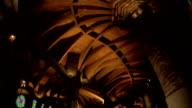 ceiling interior of gaudi church video