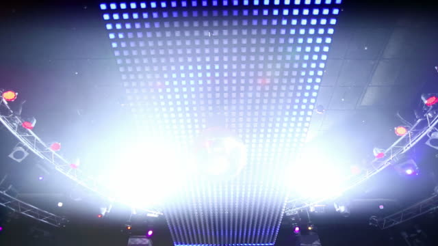 HD Ceiling lights with disco ball (loopable) video