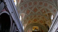 Ceiling of a catholic church video