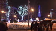 celebrate christmas festival at sapporo video