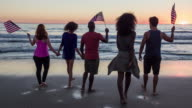 Celebrating 4th of July on the beach video