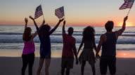 Celebrating on the beach video