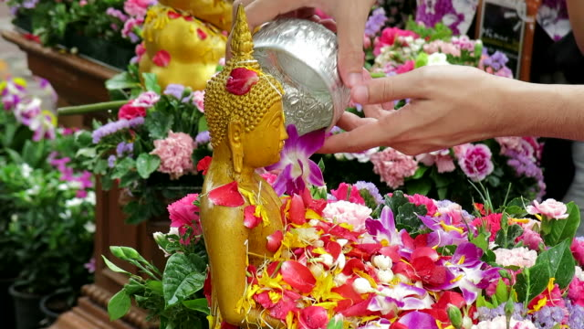 Celebrating traditional New Year of Thailand video