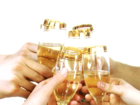 Celebration drink with champagne video