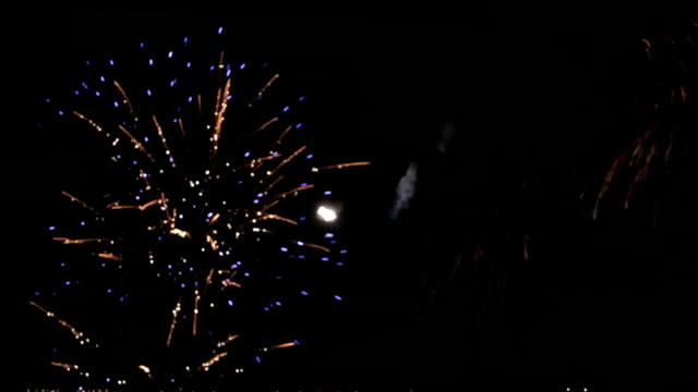 Celebration Fireworks at night video