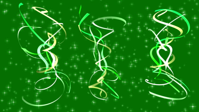 Celebration Looping Ribbons video
