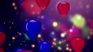 Celebratory background. Balloons video