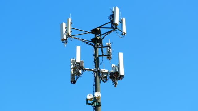 Cell Mobile Wireless Network Tower, Radio Antenna Communication Receiver video