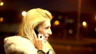Cell phone conversation. video