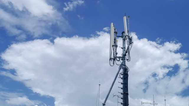 Cell phone tower time lapse. video