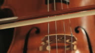 Cello playing, Close up video