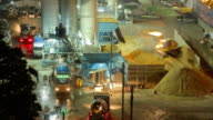Cement mixer on the Construction Site,Time lapse video