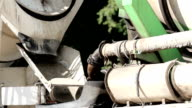 Cement mixer slowly mixing the cement inside video