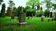 Cementery gravestones landscape background video