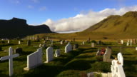 Cemetery in Iceland video