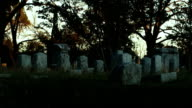 Cemetery in late afternoon - time lapse video
