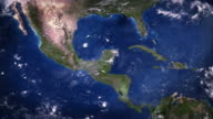 Central America seen from space. video