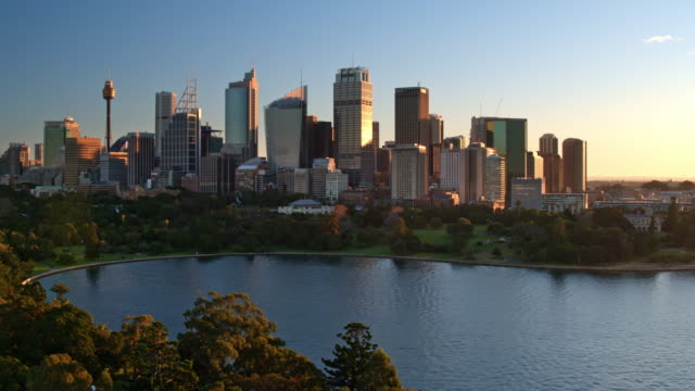Central Business District, Royal Botanical Gardens, Sydney, New South Wales, Australia video