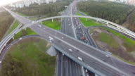 Central highway and overpasses, aerial view video