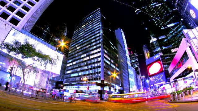 Central. Hong Kong City Night Timelapse. 4K Shot. video