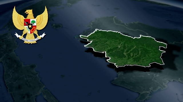Central Kalimantan with Coat Of Arms Animation Map video