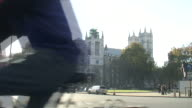 (HD1080i) Central London Traffic at Westminster Abbey video