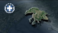 Central Macedonia with Coat Of Arms Animation Map video