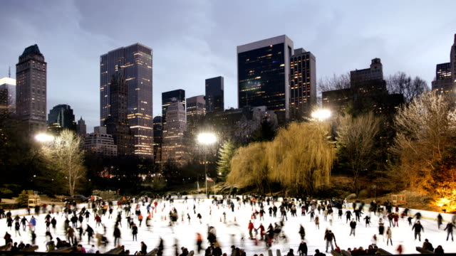 Central Park - Ice Skating and Sunset video