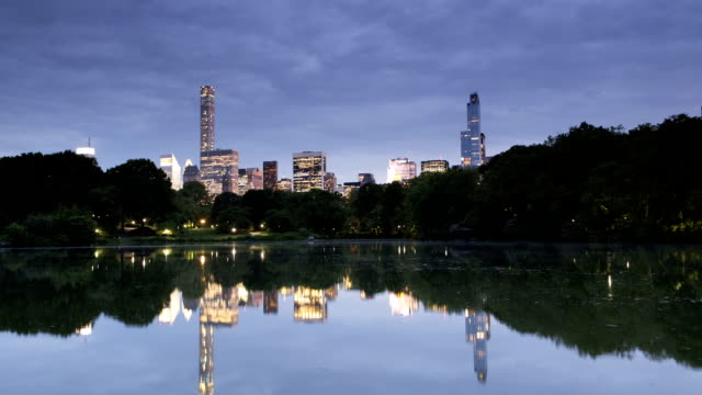 Central Park Lake Reflections Panorama video