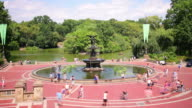 central park main fountain and lake square 4k time lapse from new york video