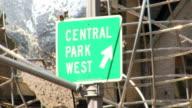 Central Park West Sign HD video