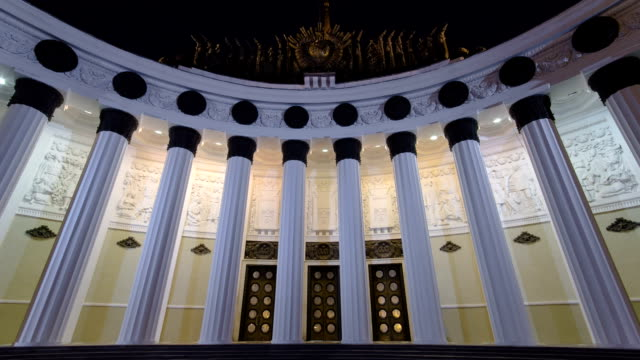 Central Pavilion of VDNH VDNKh exhibition in Moscow Timelapse hyperlapse. Russia video