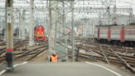 Central Railway Station With Trains video