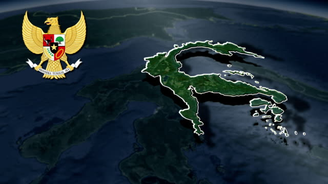 Central Sulawesi with Coat Of Arms Animation Map video