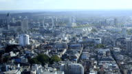 Centre of London aerial timelapse through sunset video
